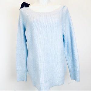 White House Black Market bow sweater ribbed knit